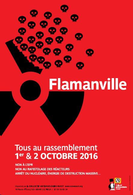Affiche rassemblement Flamanville